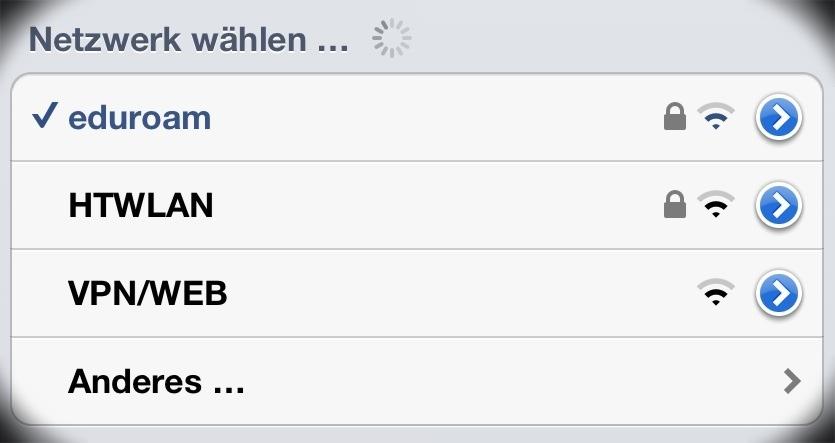 eduroam WLAN an der HTW Dresden