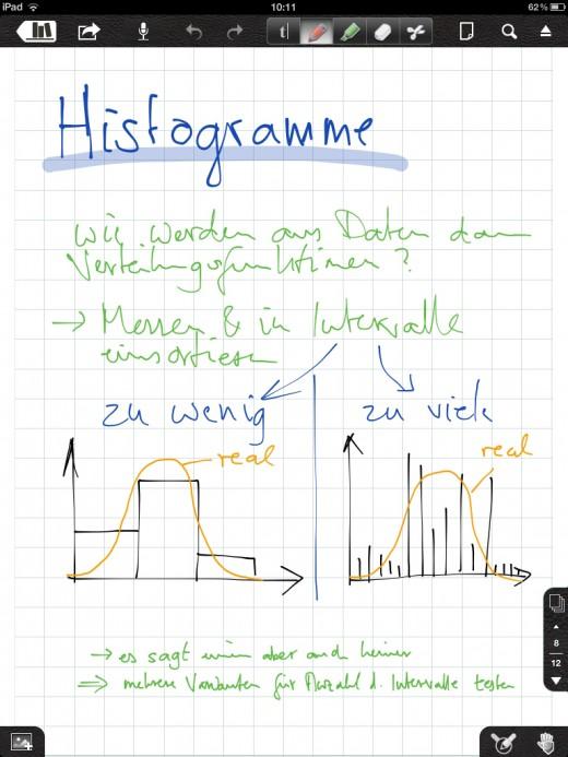 Notability: Mitschrift per Hand