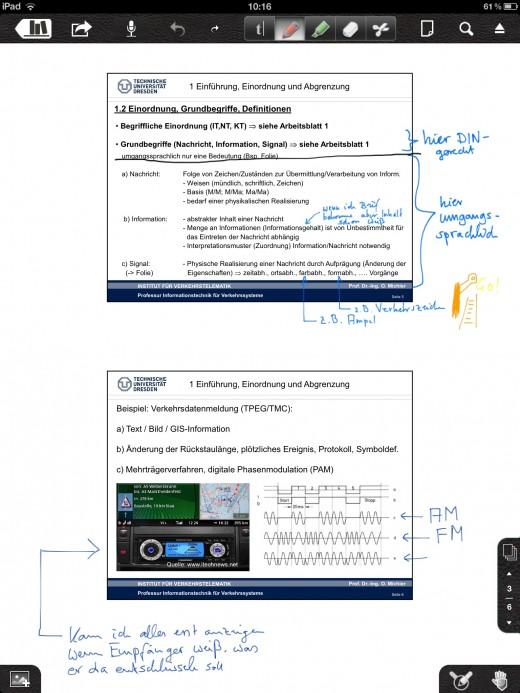 Notability: Anmerkungen auf PDFs