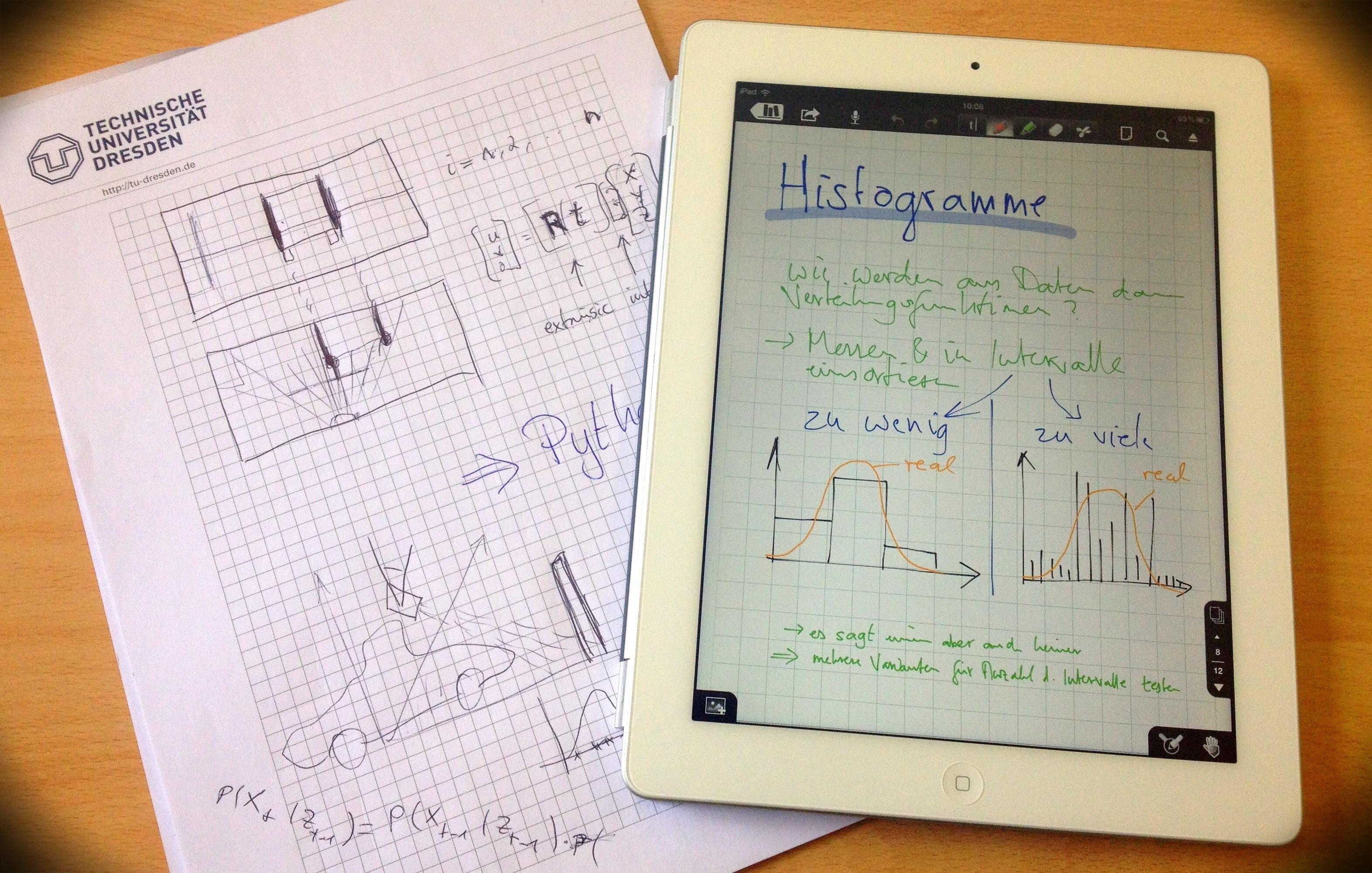 iPad ersetzt den Collegeblock