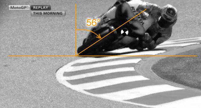 Casey Stoner Schräglage in Catalunya 2012