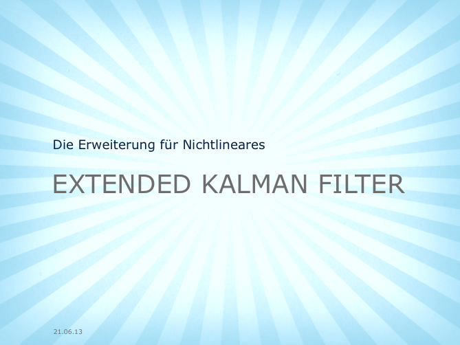 Motorblog » Das Extended Kalman Filter einfach erklärt