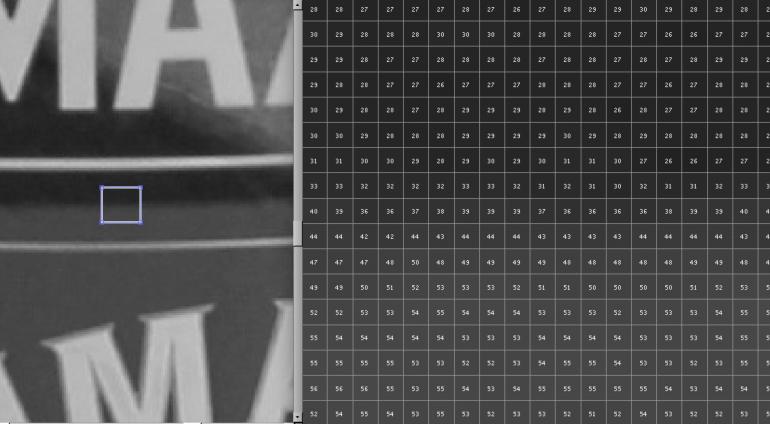 Rohdaten-Foto-Gray-Detail
